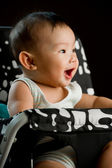 Six month old South East Asian Chinese baby girl — Stock Photo