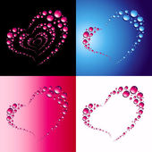 Hearts from drops — Stock Vector