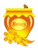Honey honeycombs — Stock Vector