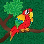 Red parrot — Stockvektor