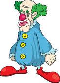 Sad clown — Stock Vector