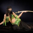 Belly dancer with saber — Stock Photo #6146174