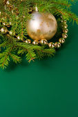 Christmas balls with fir — Stock Photo
