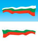 Bandera búlgara — Vector de stock
