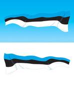 Estonian flag — Stock Vector