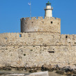 Rhodes Landmark Mandraki Port — Stock Photo