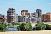 Edifici moderni in costruzione a kazan — Foto Stock