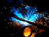 Metal welding — Stock Photo