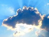 Chmury słońce zamknięte — Zdjęcie stockowe