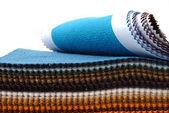 Showcase of fabrics — Stock Photo