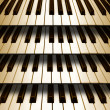 Background music piano keyboard — Stock Photo