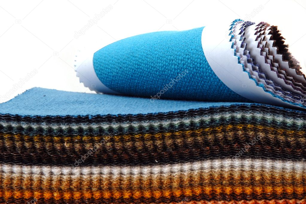 Colours fabrics showcase on a white background — Stock Photo #6153599