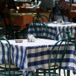 Table in a street cafe - Foto Stock