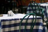 Table in a street cafe — Stock Photo