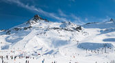 Alpine ski resort — Stock Photo
