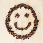 Smiley coffee — Stock Photo