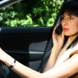 Pretty girl in the car — Stock Photo