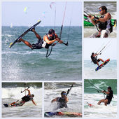 Kitesurfer in action — Stock Photo