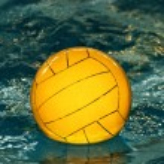 Yellow water-polo ball — Stock Photo