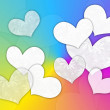 Royalty-Free Stock Photo: White hearts