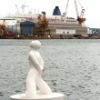 Buoy shaped like a man - Foto Stock