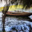 The thrown boat — Foto Stock