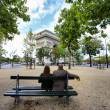 Parisian square — Stock Photo