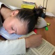 The sleeping student — Stock Photo