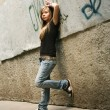 The girl - teenager - Stockfoto
