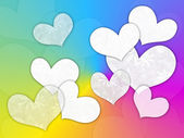 White hearts — Stock Photo