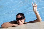 Lato w basenie — Zdjęcie stockowe