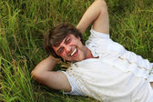 Weakening in a grass — Stock Photo