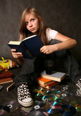 Girl with the book — Stock Photo