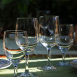 Glasses at restaurant - Stock Photo