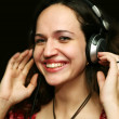 DJ - girl — Stock Photo