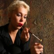 The blonde with a cigarette — Stock Photo
