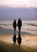 пара на закате — Стоковое фото