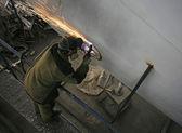 Factory welders — Stock Photo