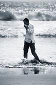 Homem solitário — Foto Stock