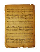 Musical page with notes — Stock Photo