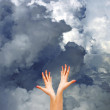 Hands in sky — Stock Photo