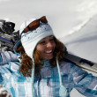 Skier girl — Stock Photo