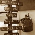 Wood menu — Stock Photo
