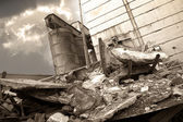 The destroyed factory — Stock Photo