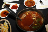 Korean soup — Stock Photo