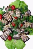 Salát z lilek — Stock fotografie