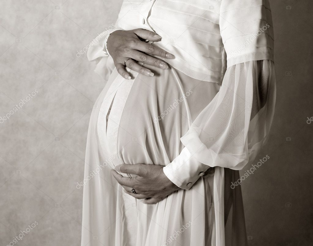 The pregnant woman on the seven month  Stock Photo #6192172
