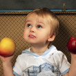 Boy with a apples — Stock Photo