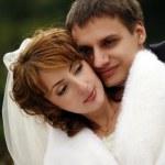 nově manželského páru — Stock fotografie