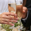 Stock Photo: Glasses of champagne
